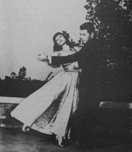 Louise dancing with Hal McCoy, her partner in the short-lived dance studio she ran in Wichita, 1940
