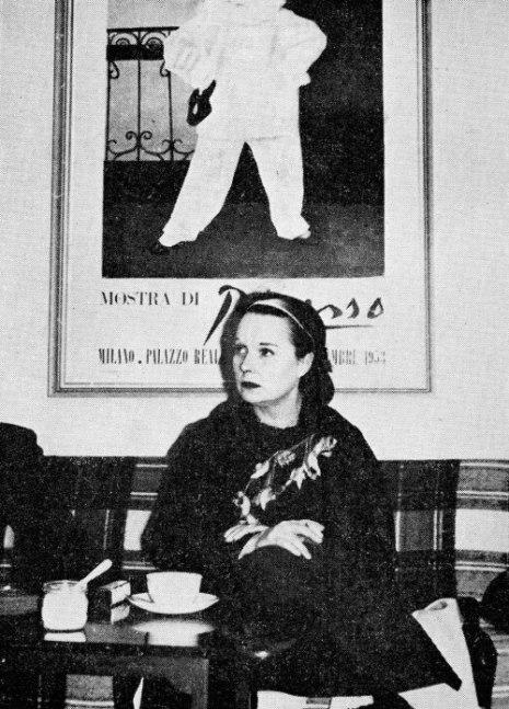 Brooks visiting the Danish Film Museum in Copenhagen, 1957